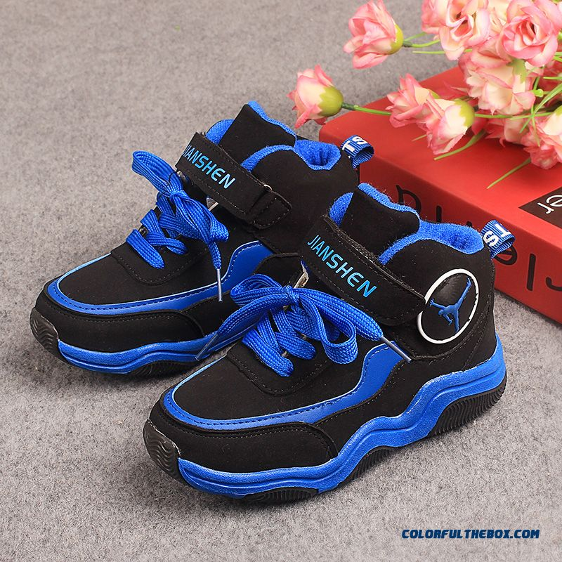 Winter Plus Cotton Kids Boys Warm Casual Antiskid Running Shoes