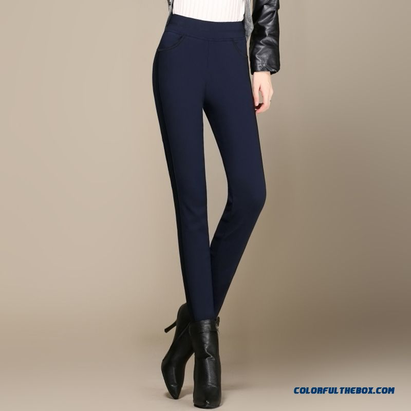 Winter Plus Thick Velve Women Casual Long Pencil Pants High Elastic Bottoming