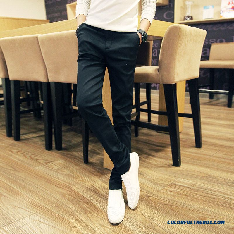Winter Plus Velvet Thick Men's Casual Straight Slim Pencil Long Pants