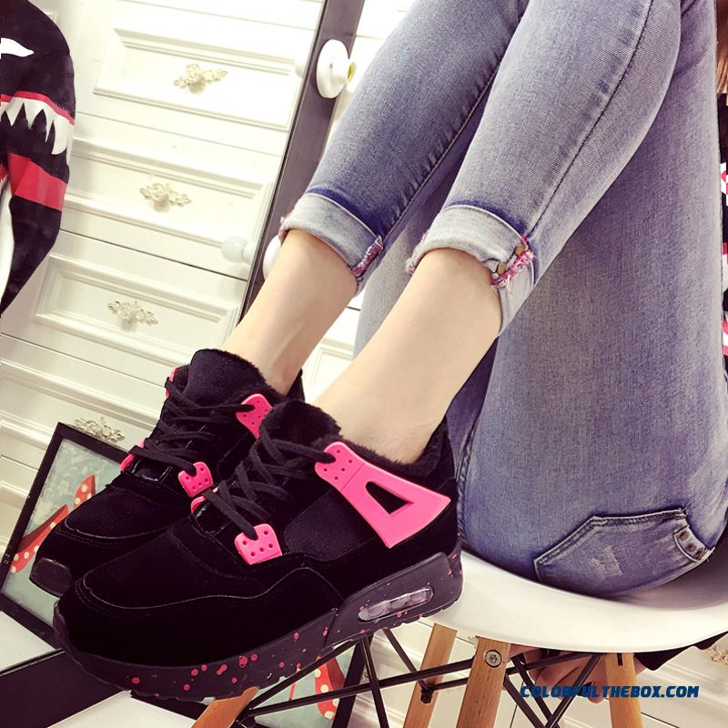 Winter Plus Velvet Warm Thick Bottom Women Casual Shoes Sports