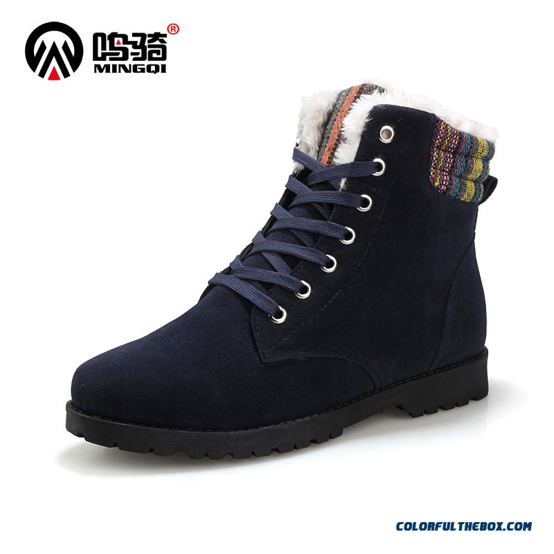 Winter Snow Boots Men Shoes Plus Velvet Casual Warm Fashion Short Boots