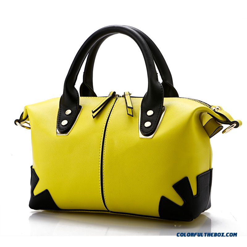 Winter Special Sale For Women Two-color Double Zipper Top-handle Bags High Capacity
