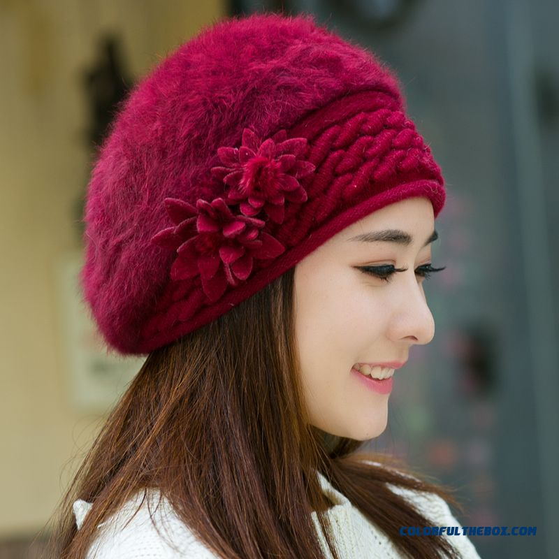 Winter Top Sale Women Accessories Promotion New Style Of Berets Knitted Hat  ... a3360faa3bc