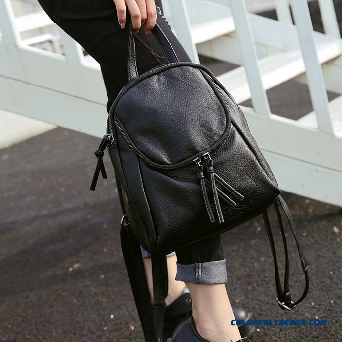 7c7311fcedc Winter Washed Pu Leather Women Shoulder Bags Casual Mini Small Backpack  Student Schoolbags