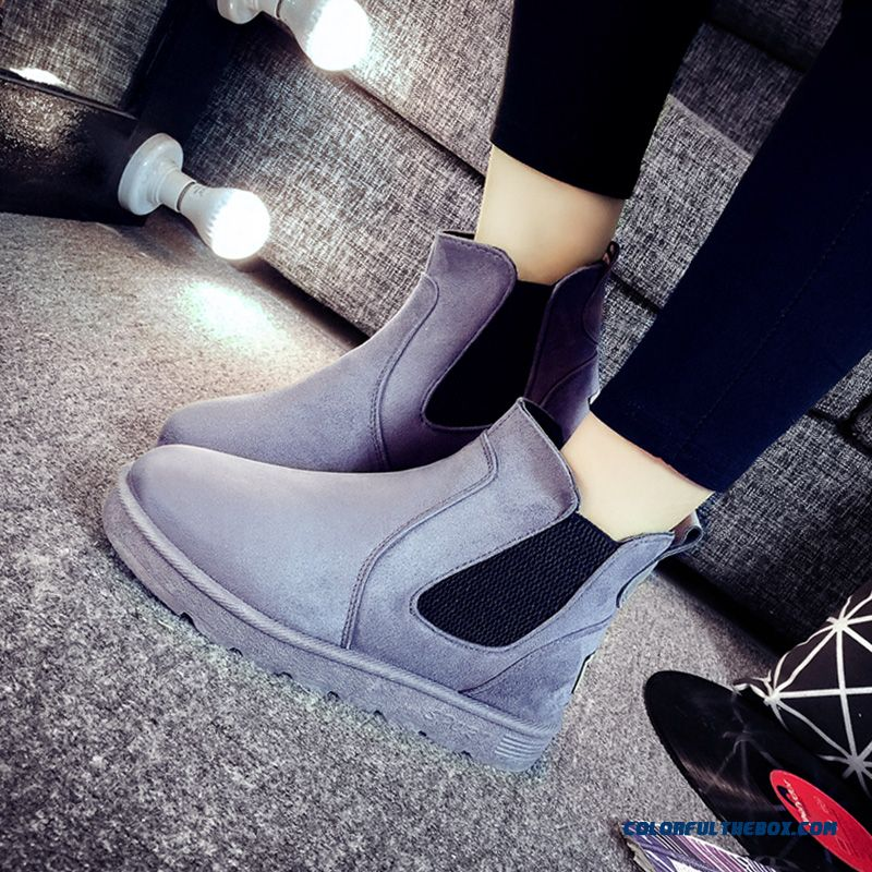 Winter Women Snow Boots Flats Thicken Plus Velvet Shoes Free Shipping