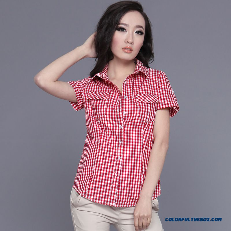Wome Blouses High-quality Cotton Fabrics Feel Soft And Comfortable Summer New Short-sleeved Shirts