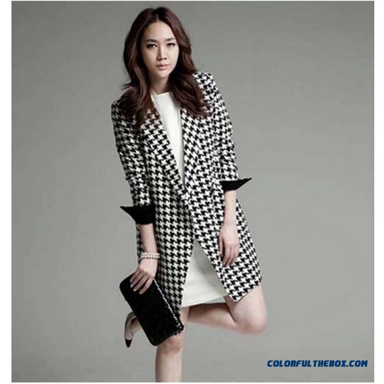 Women 2015 Fall And Winter New Thin Woolen Coat Large Size Jacket Warm Fashion Tide
