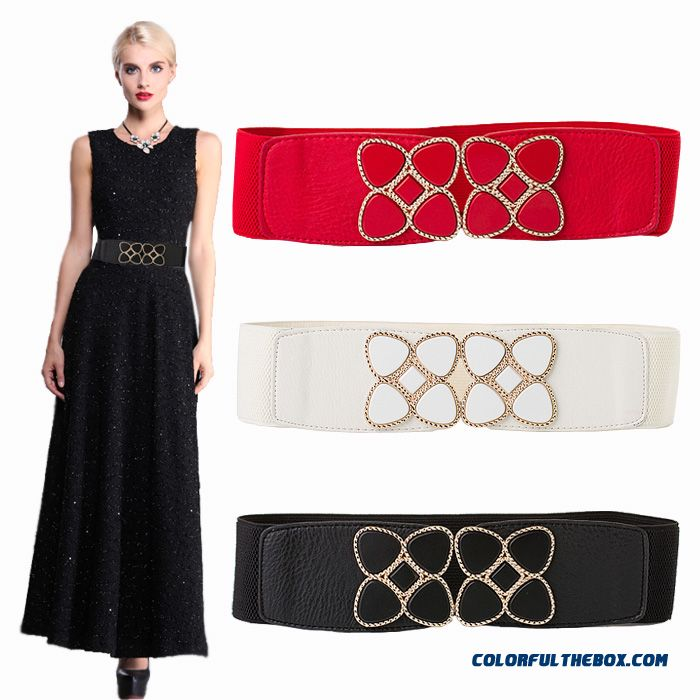 Women Accessories Necessary Dress With Leather Belt Elastic Stretch All-match Women Cummerbunds