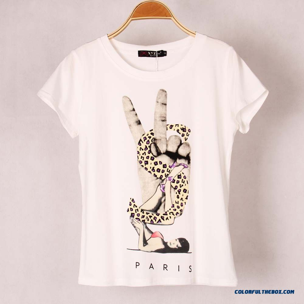 Cheap women breathable cotton t shirt printed elastic for Print t shirt cheap