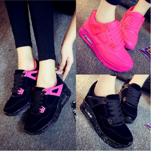 Women Casual Shoes Within The Higher Thicken Botom Sport Style