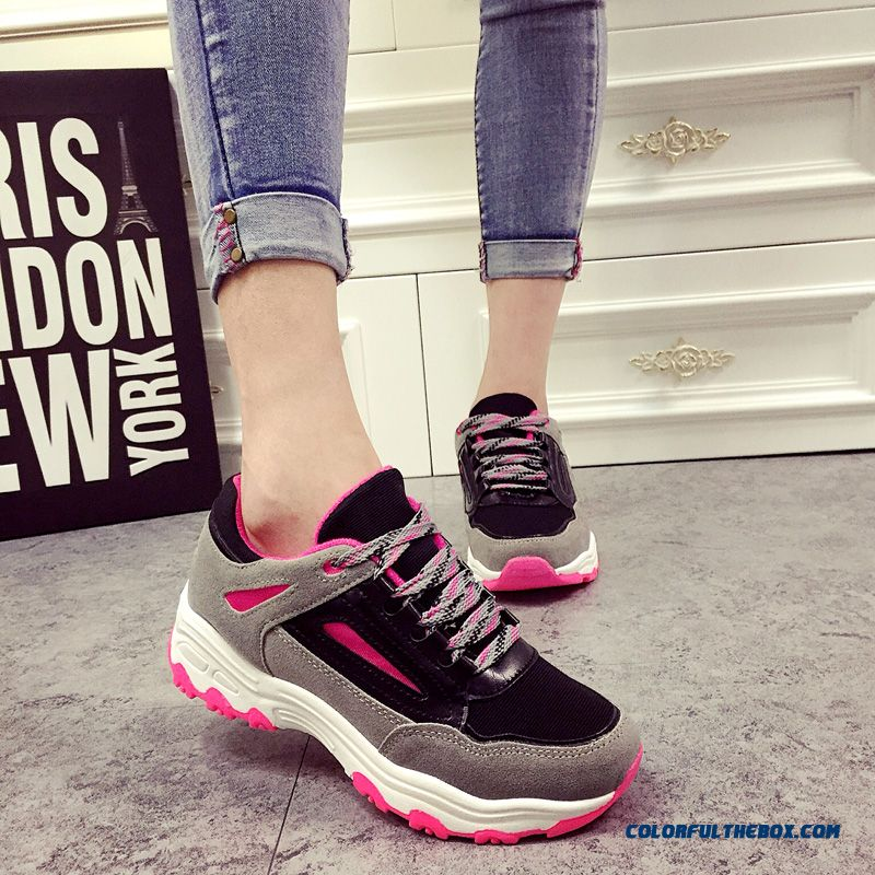 Women Elevator Shoes Inside Thick Bottom Running Casual Fashion