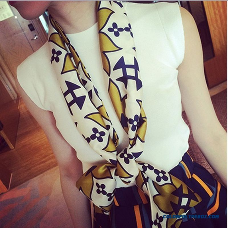 Women Favorite Silk Charmeuse Fabric Chiffon Occupation Business High-grade Double Scarf - more images 1