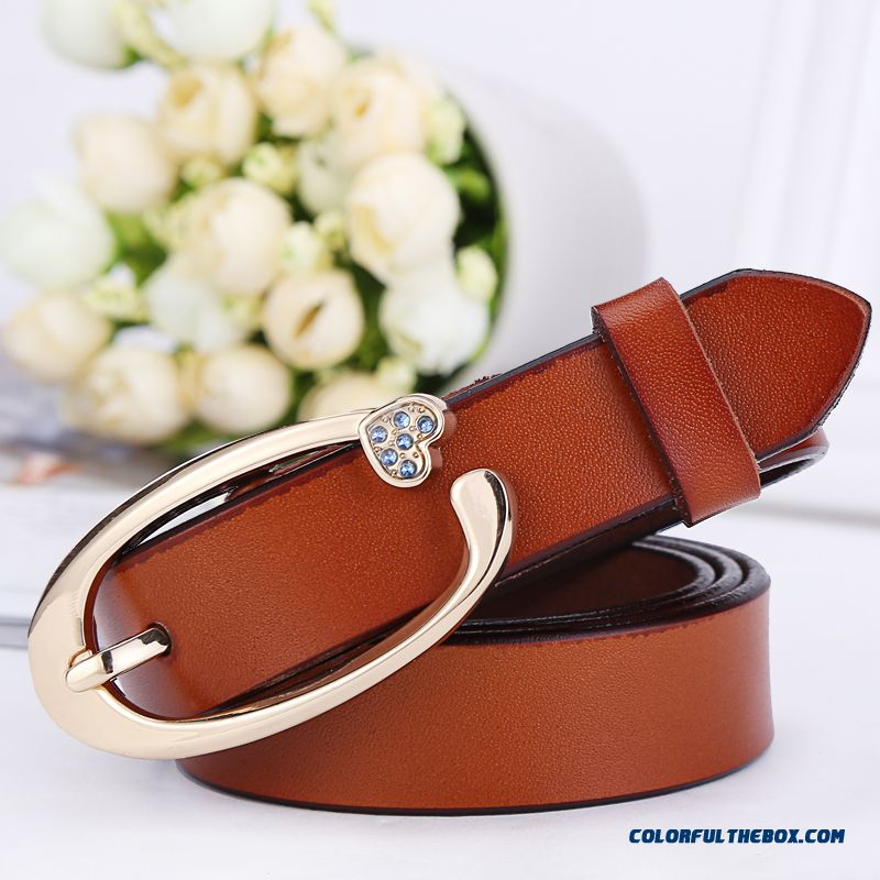Women Fine Cowhide Pin Buckle Thin Belt Women Decoration Free Shipping Accessories Cheap