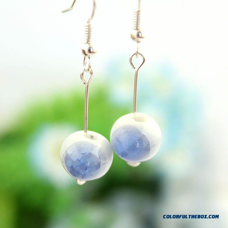 Women Jewelry Colorful Droplets Earrings Folk-custom Exquisite All-match Manufacturers Direct
