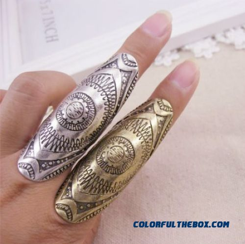 Women Jewelry Wholesale Personality Exaggerated Punk Style Carved Ring Manufacturer Promotions