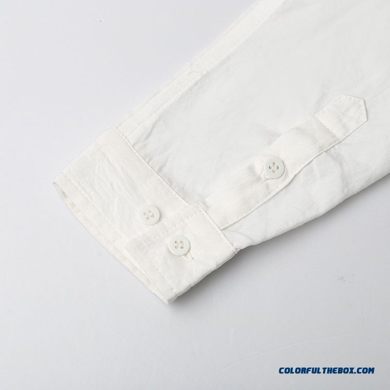 Women Letters Printed Ribbon Decoration Placket Hit Color Slim Thin Long-sleeved Shirt - more images 4