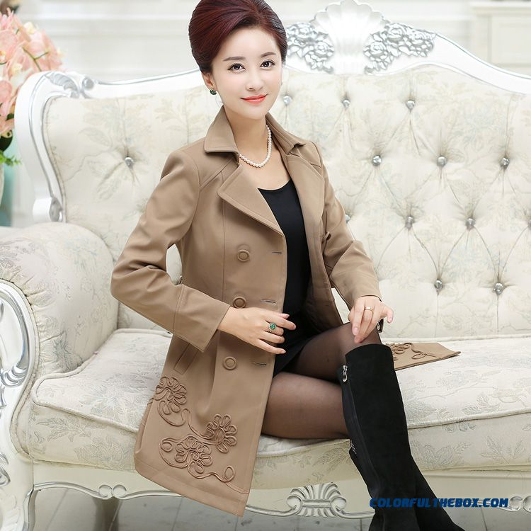 Women Long Cardigan Coat Spring And Autumn Coat Double-breasted Jackets Limited Free Shipping