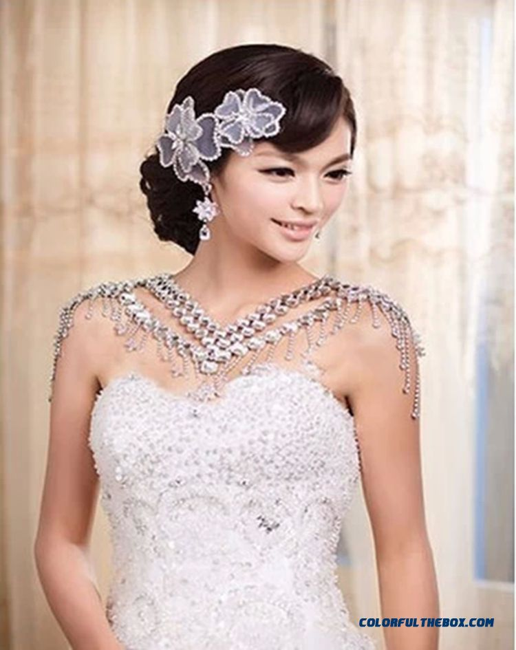 Women Party Dress Bride Jewelry Wholesale Free Shipping Crystal Shoulder Fine Jewelry