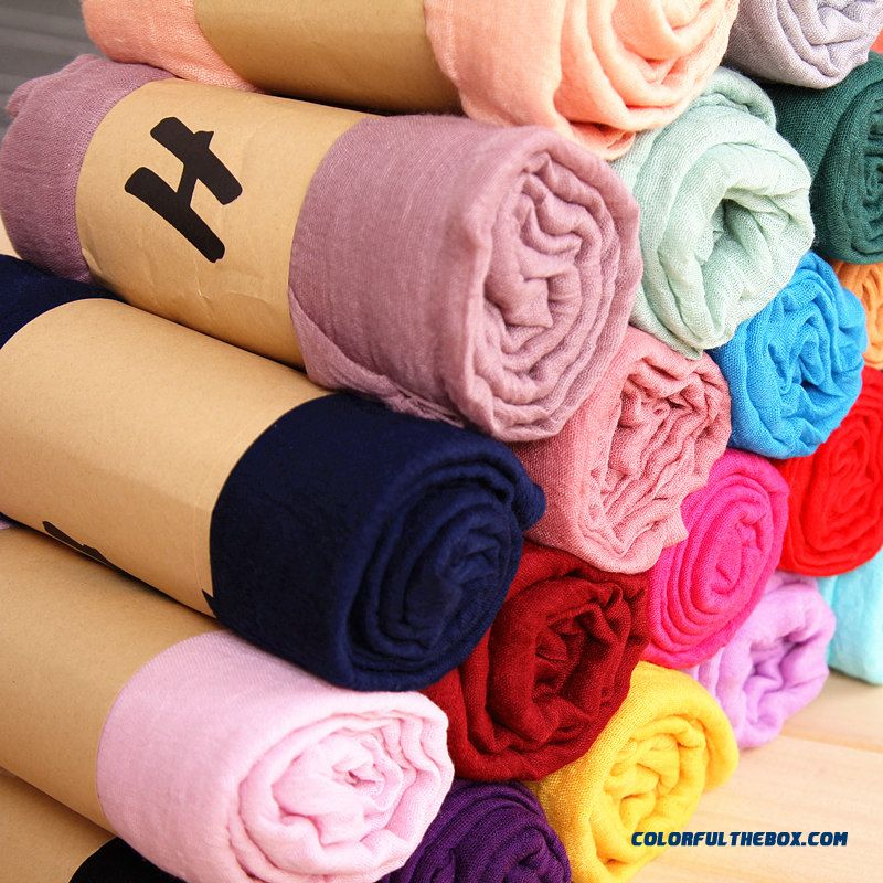 Women Solid Color Long Scarf Sunscreen Winter Fashionable Wholesale Low Price High Quality