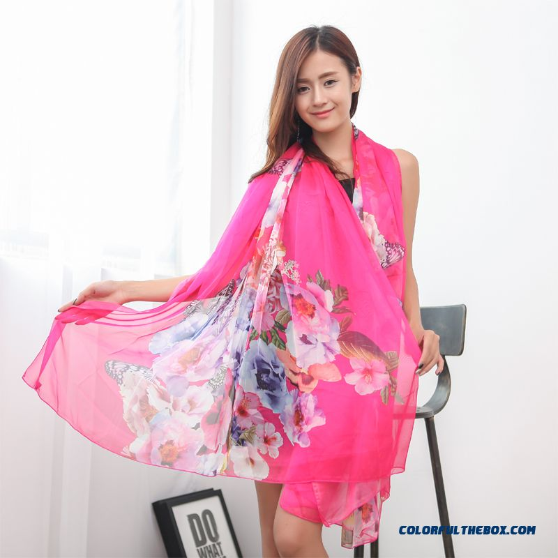 Women Spring And Autumn Korean Chiffon Silk Long Scarf Summer Cheap Closeout