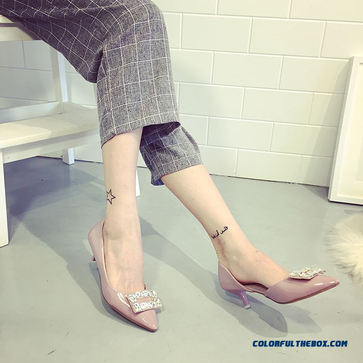 Women Summer Middle-heels Pointed Elegant Pumps On Sale