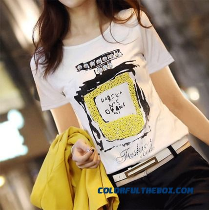 Women Summer Short-sleeved Cotton T-shirt Slim Fashion Thin Large Size Tide