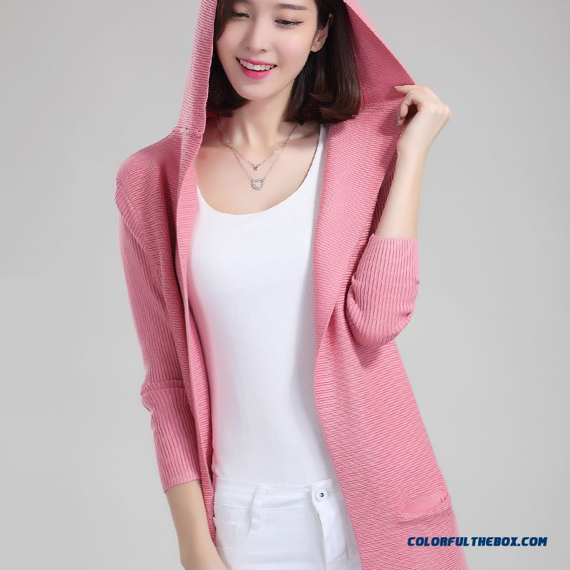 Women Sweater Cardigan Long Coat Long Sleeve Knitwear
