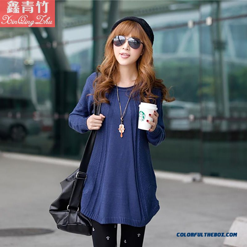 Women Sweater Coat Jacket Pull Blouson Bottoming Shirt