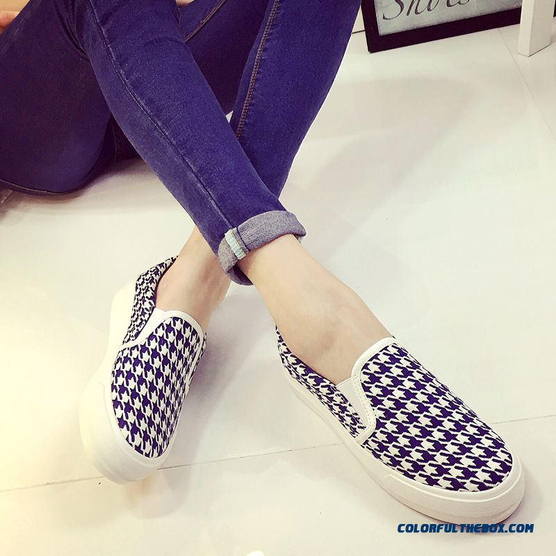 Women Thick Bottom Sets Foot Canvas Casual Shoes Free Shipping - more images 3