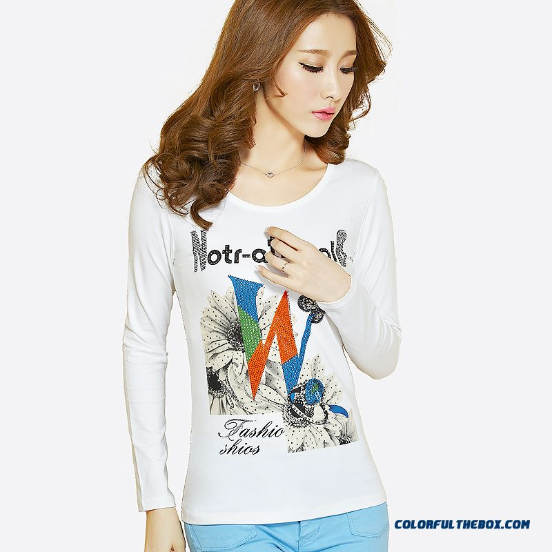 Women s Clothing Letters Printed T Shirt Long-sleeved T-shirt Animal Prints  Plant Flowers ... 9e0508b5c