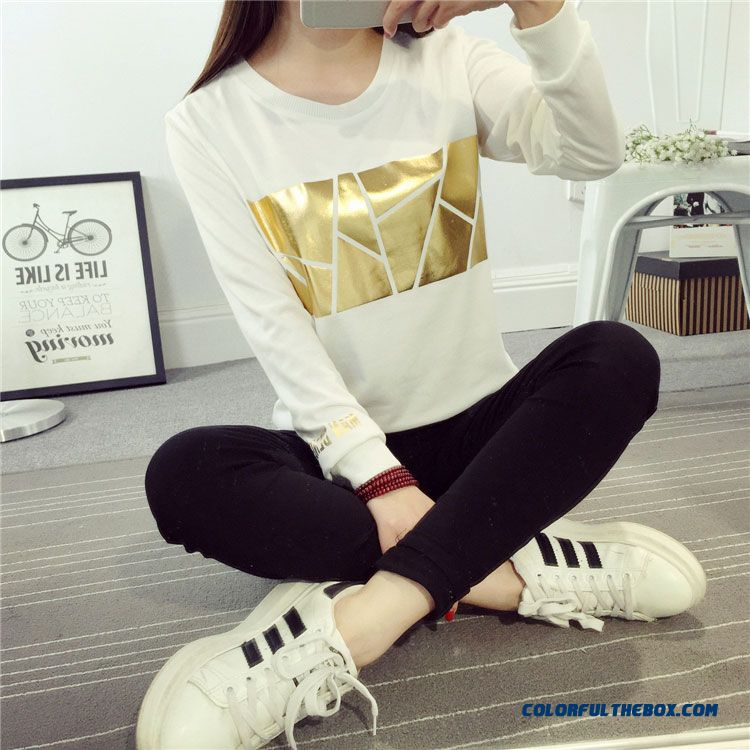 Women's Clothing Warm Blouses Korean Version Of Long-sleeved T-shirt Low Price