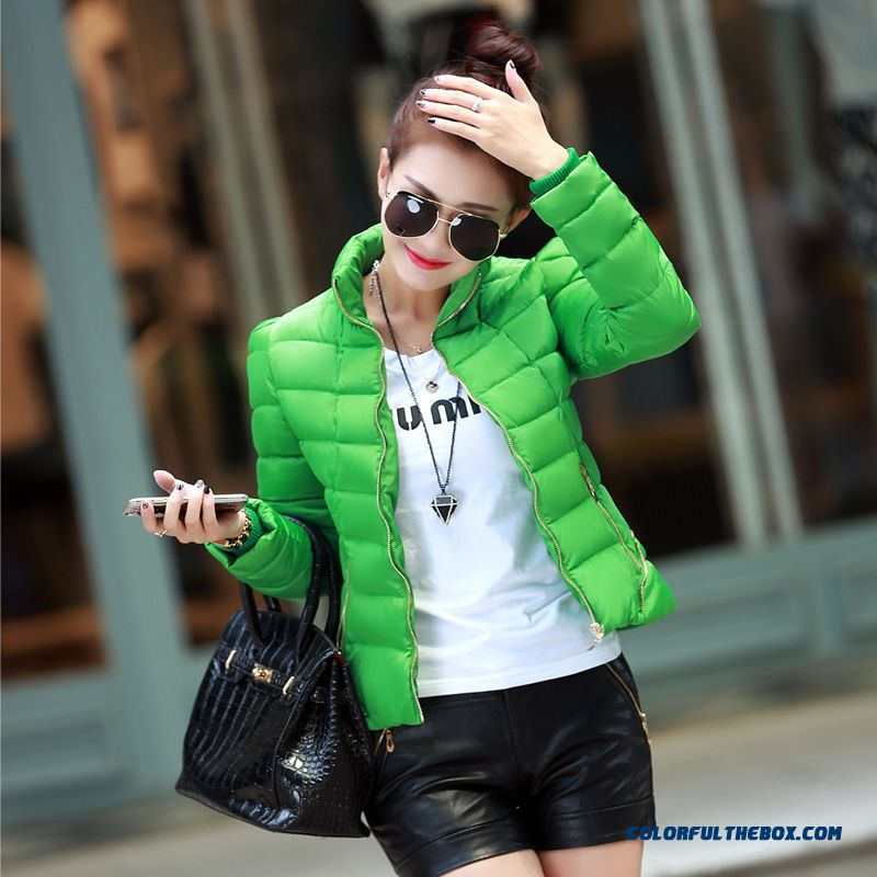 Women's Coat Slim Short Thick Padded Jacket Coat Large Tide Warm Winter