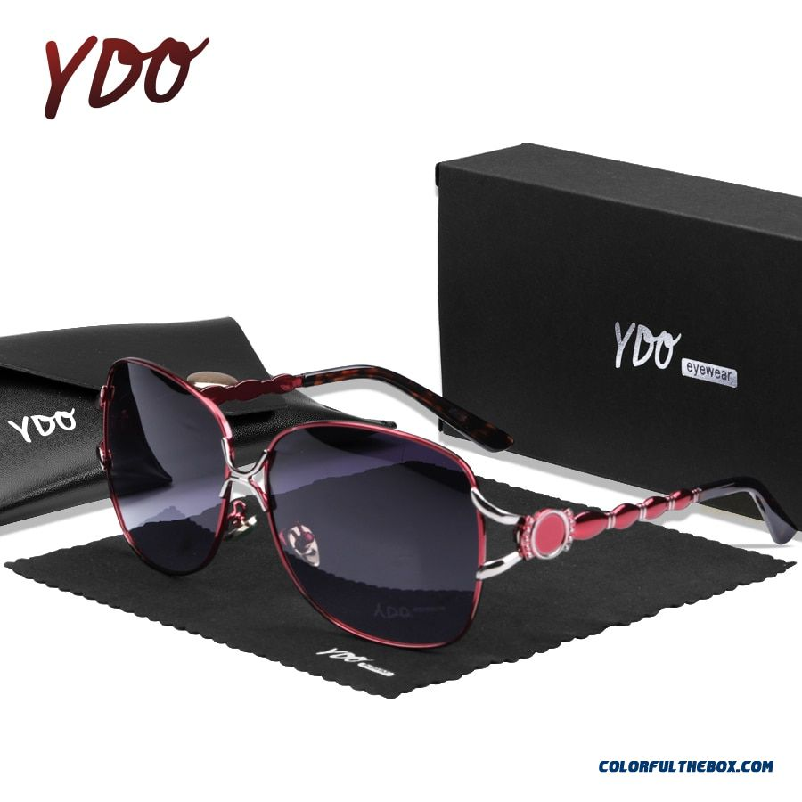 Ydo 2019 New Jade Nosepad Polarized Sunglasses Women Uv400 Sun Glasses Luxury Oversized Female Retro Vintage Ladies Sunglasses