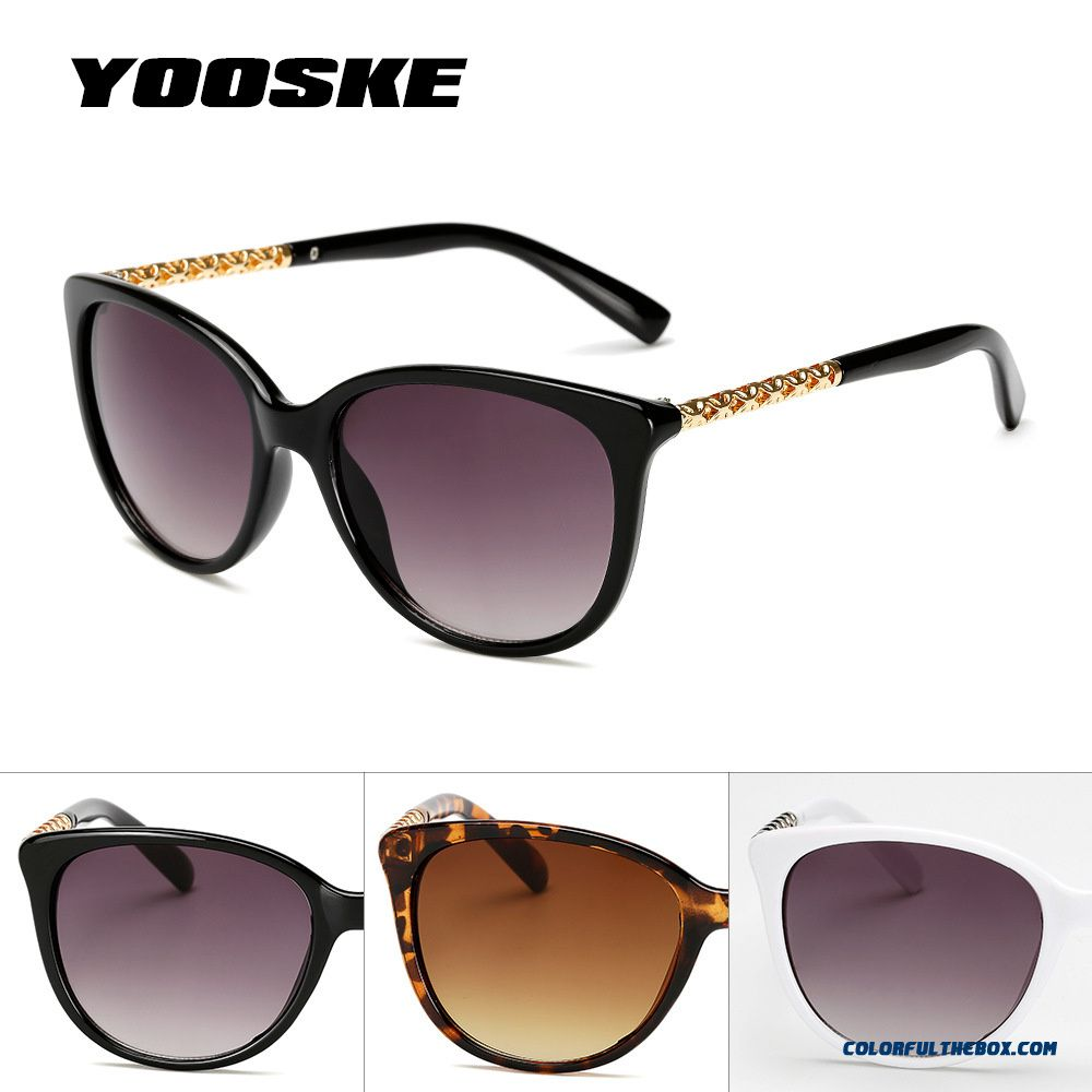 Yooske Oversized Sunglasses Women Luxury Brand Shades Sun Glasses Female Vintage Big Frame Sunglass Hollow Frame