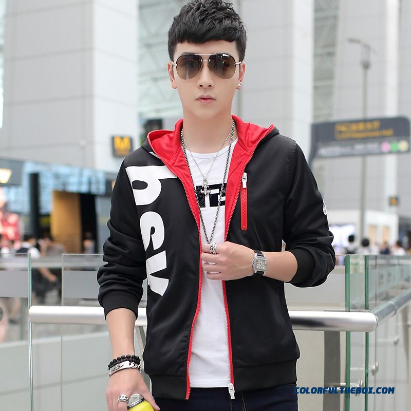 Young Men Fashion Hooded Coats Large Size Sport Energetic Top Sale