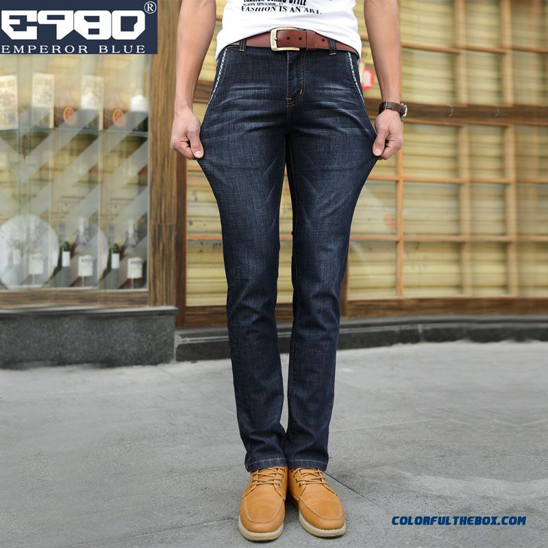 Youth Autumn And Winter Fashion Skinny Jeans Slim Straight Elastic Men Clothing