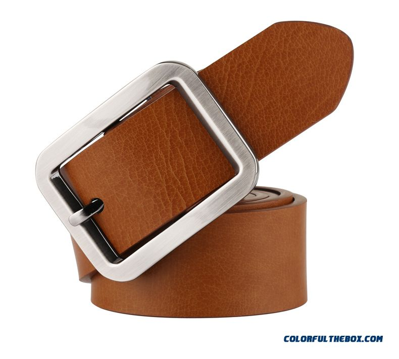 Youth Cowhide Belt Top Quality Convenient And Practical Design Men Buckle Leather Belt Leisure Genuine Leather Jeans Belt