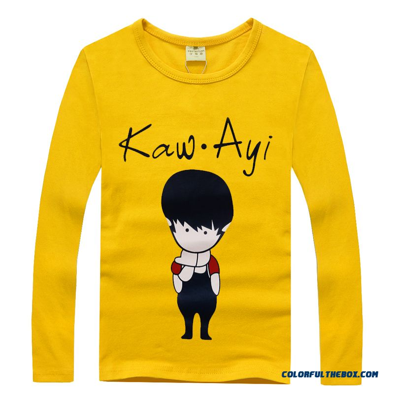 Youth Energetic Design For Boys Long-sleeved T-shirt Free Shipping Of Kids Clothing