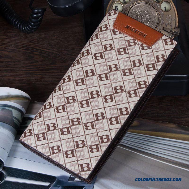 Youth Fashion Multifunction Men Long Wallets Bags Multi - Card Bit Wallet Letter B Pattern