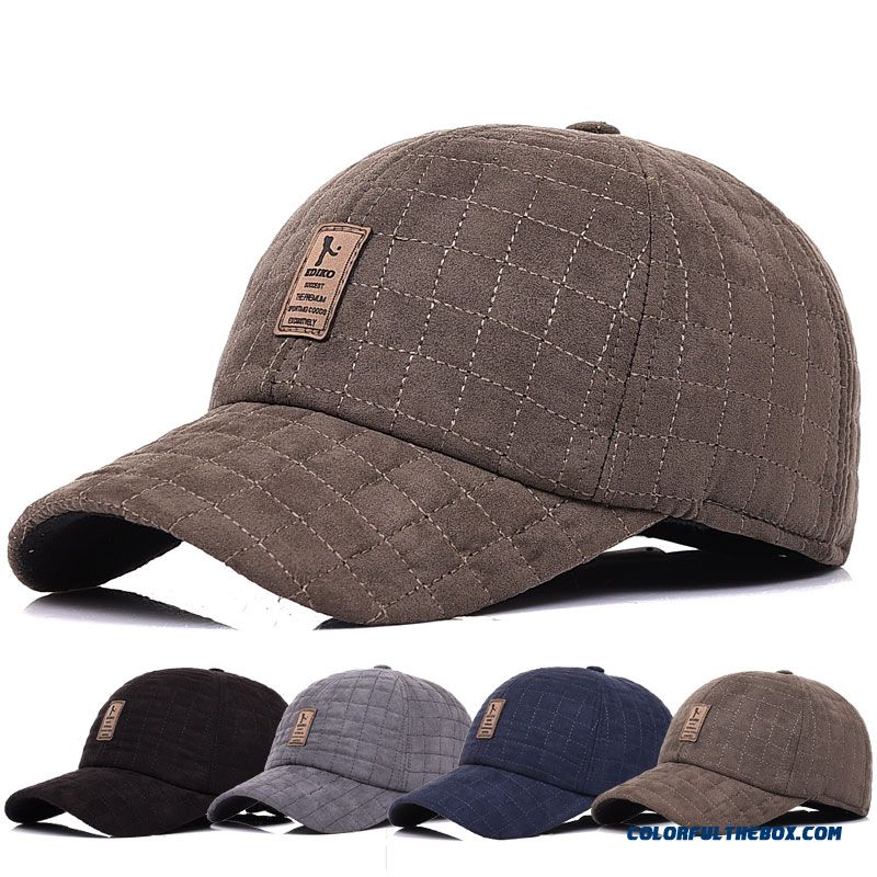 Z4 Brand New Plaid Men's Accessories Winter Hat Cold-proof Outdoor Baseball Cap