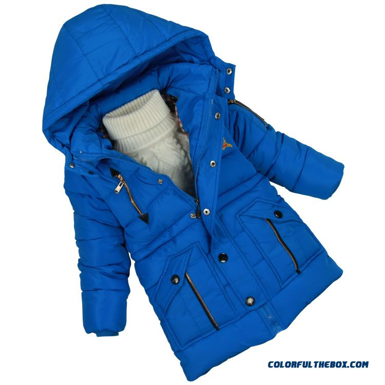 Zipper Pocket Design Winter Thicken Warm Free Shipping Boys Kids Caots & Jacket